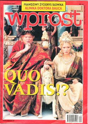 Okładka tygodnika Wprost nr 35/2001 (979)