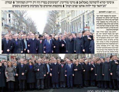 Ultraortodoksyjna gazeta wymazała ze zdjęcia Tuska i...