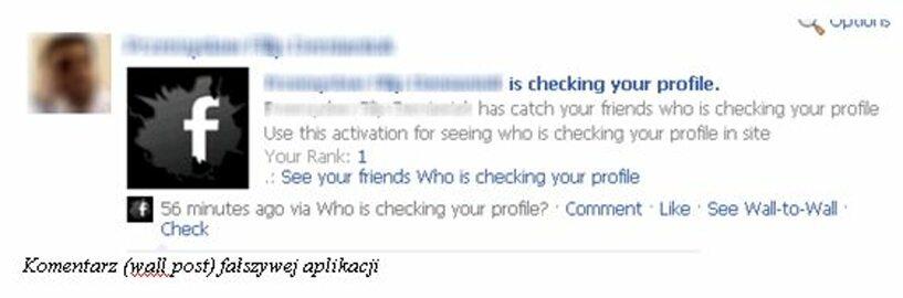 Fałszywe aplikacje na Facebooku