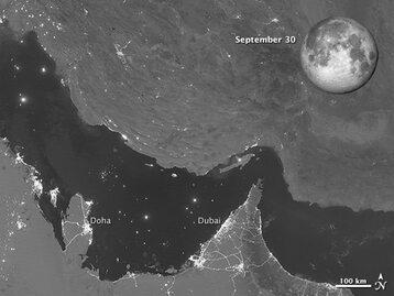 Jak księżyc oświetla ziemię