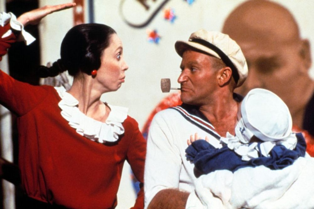 "Shelley Duvall w filmie ""Popeye"" (1980)"