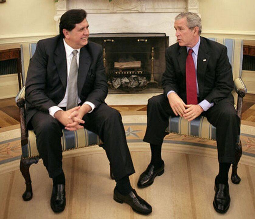 Alan Garcia w prezydentem USA G. W. Bushem, 2006