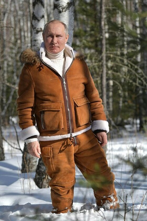 Władimir Putin na Syberii
