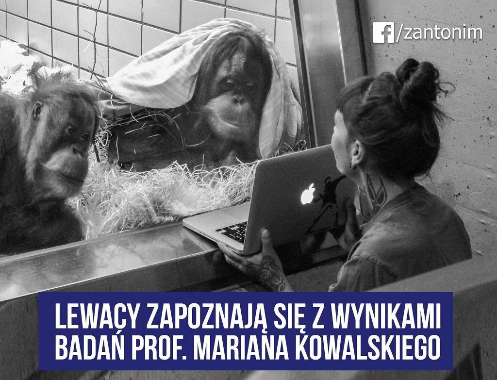 """Marian Kowalski """"obala"""" teorię ewolucji"""
