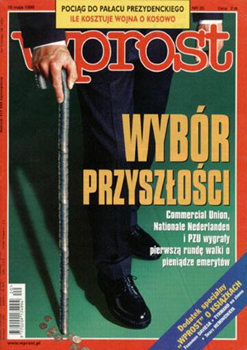 Okładka tygodnika Wprost nr 20/1999 (859)