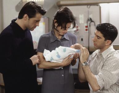 """Quiz z 23. odcinka serialu """"Przyjaciele"""" (""""Ten z narodzinami""""). Ile..."""