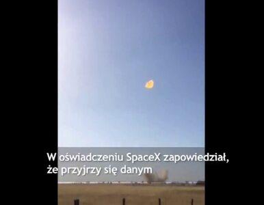 Testowa rakieta SpaceX wybuchła po 20 sekundach lotu