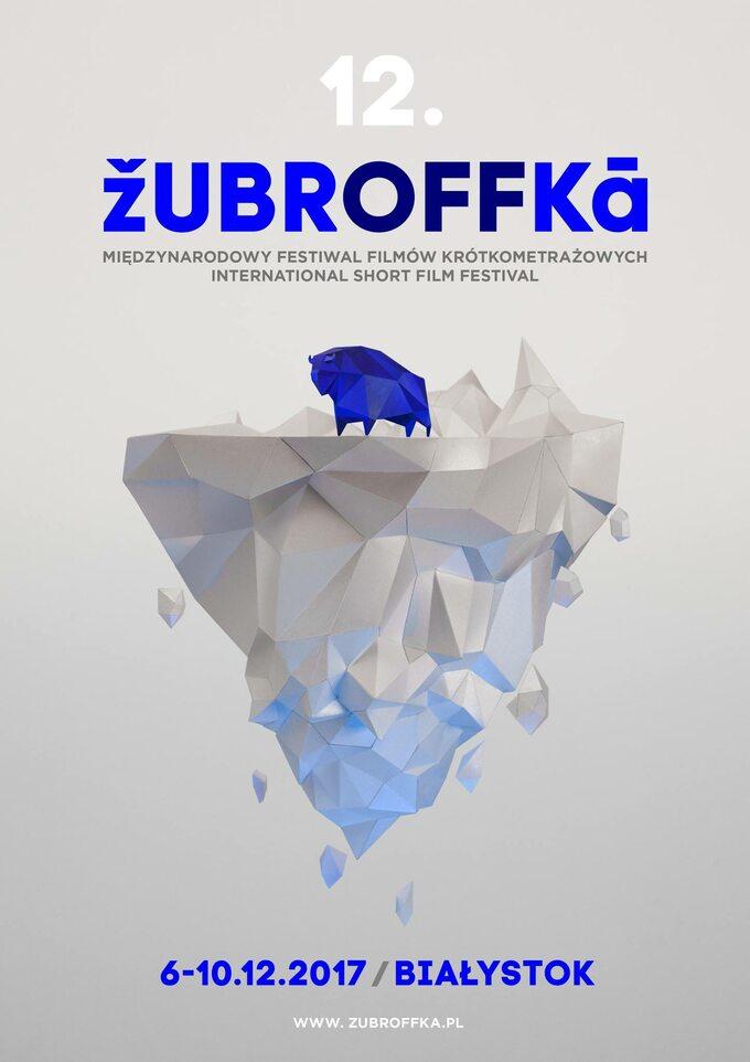 plakat reklamowy 12 edycji Festiwalu Filmów Krótkometrażowych ŻubrOFFka