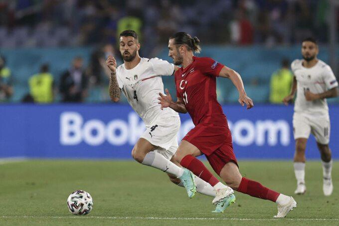 Piłkarze Turcji i Włoch