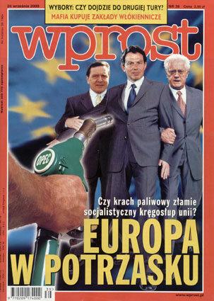 Okładka tygodnika Wprost nr 39/2000 (930)