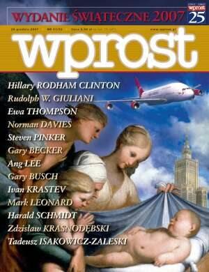 Okładka tygodnika Wprost nr 51/52/2007 (1304)