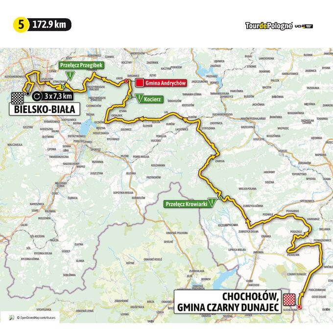 Etap 5 Tour de Pologne UCI World Tour: ZChochołowa doBielska Białej