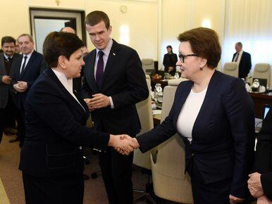 """Konferencja premier Szydło ws. reformy oświaty. """"Dobrze przygotowana..."""