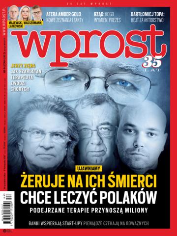 Okładka tygodnika Wprost nr 44/2017 (1809)