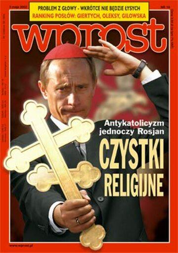 Okładka tygodnika Wprost nr 18/2002 (1014)