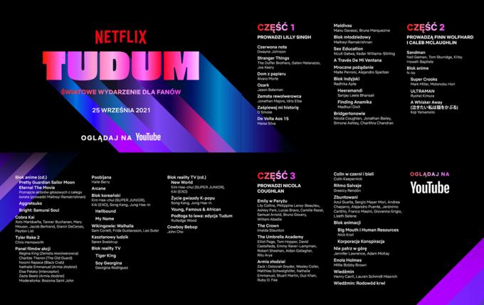 """TUDUM"" – harmonogram wydarzenia"