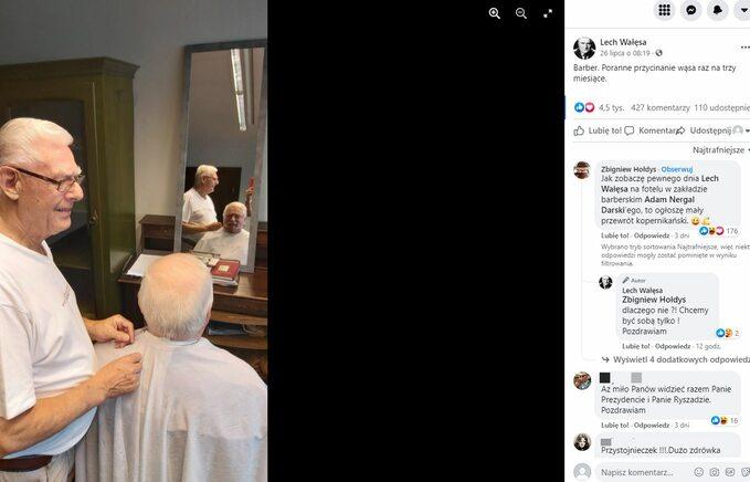 Dyskusja podpostem Lecha Wałęsy