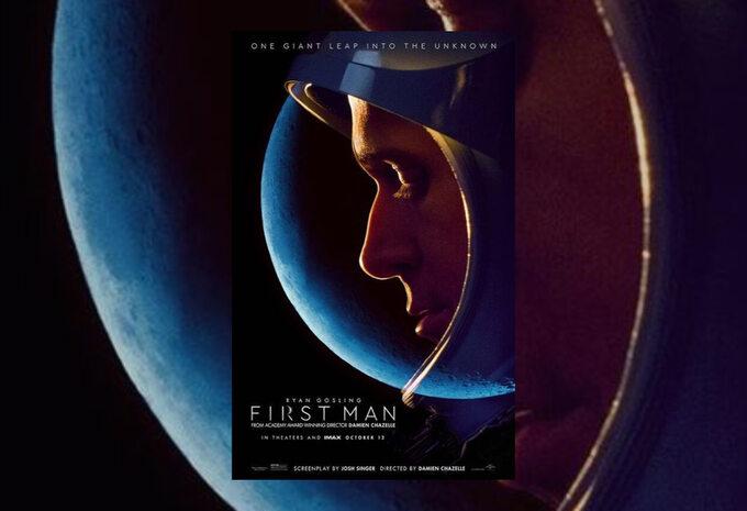 """plakat filmu """"Pierwszy Człowiek"""" (2018)"""