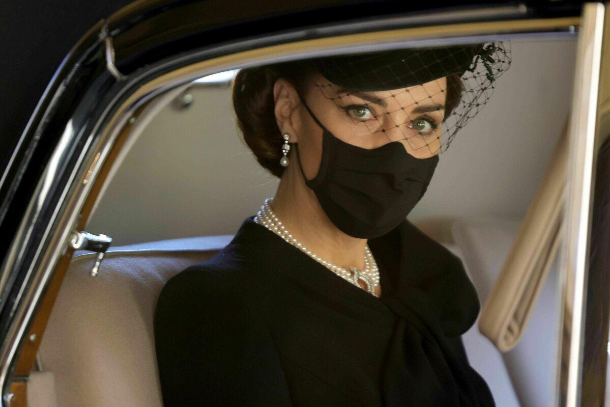 Księżna Kate na pogrzebie księcia Filipa
