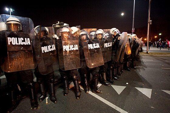 ...ale policjanci wciąż mieli dużo pracy (fot. Jakub Czermiński)