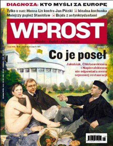 Okładka tygodnika Wprost nr 18/2009 (1373)