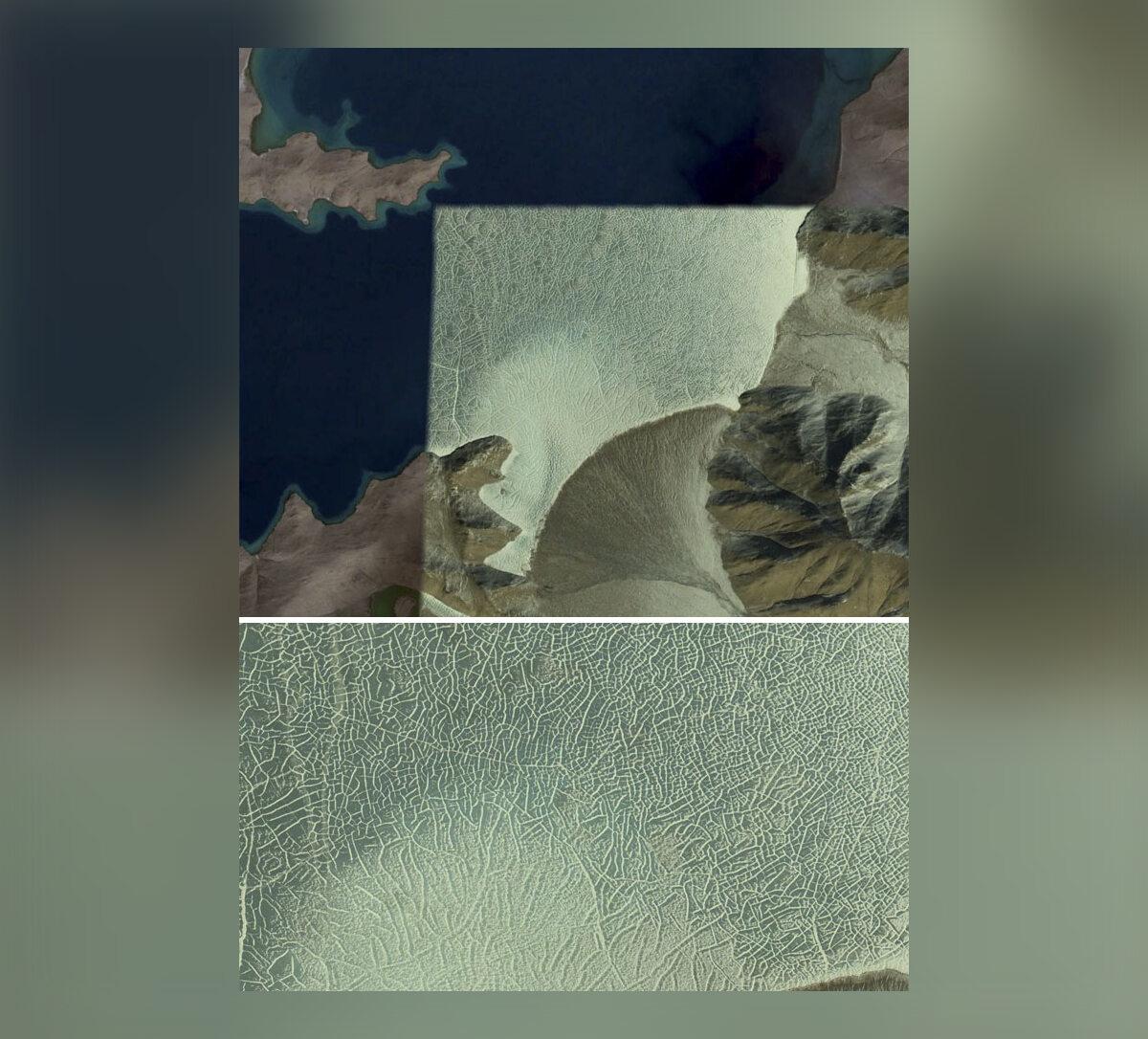 """""""Jezioro na Wyżynie Tybetańskiej - latem i zimą"""""""