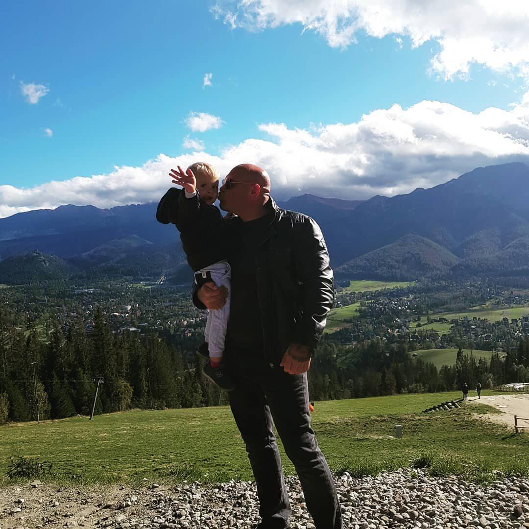 Dominik Abus z żoną