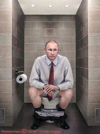 Artystka przedstawiła światowych przywódców na... sedesach