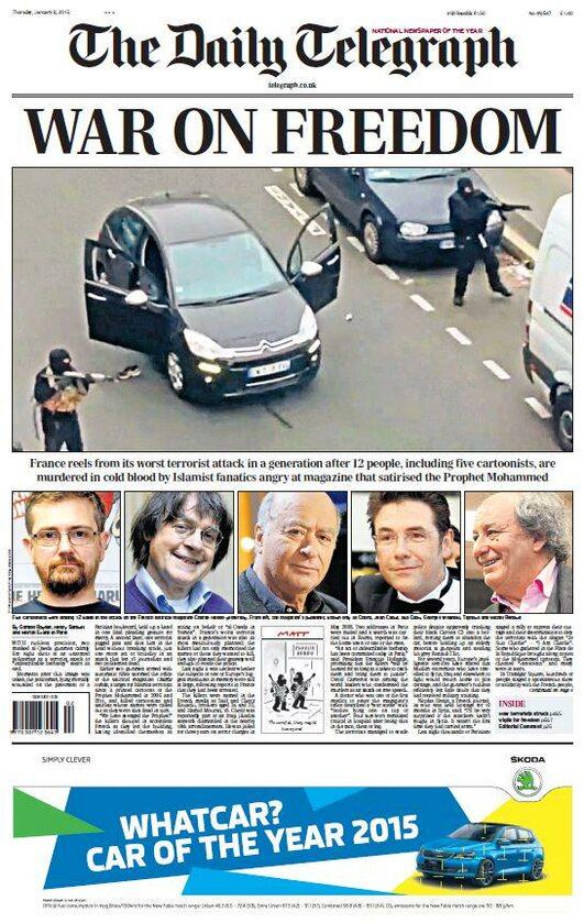 """The Daily Telegraph - """"Wojna z wolnością"""""""