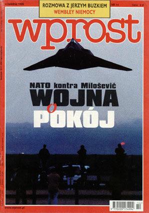 Okładka tygodnika Wprost nr 14/1999 (853)
