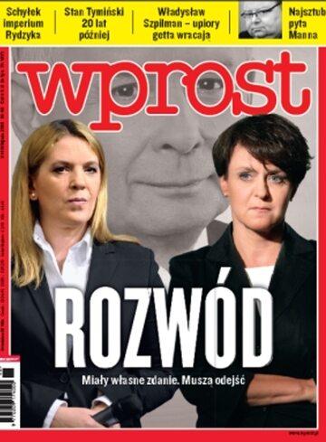 Okładka tygodnika Wprost nr 46/2010 (1449)
