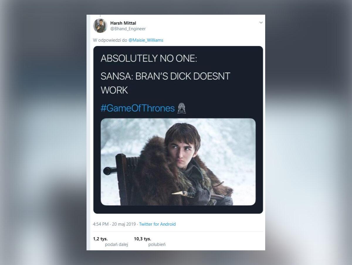 Sansa: K***s Brana nie działa