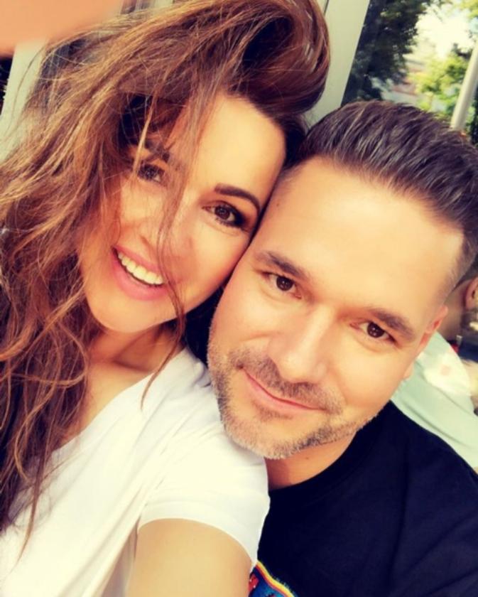 Beata Tadla z mężem
