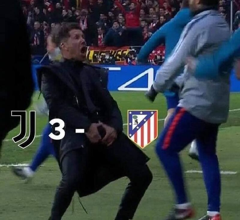 Mem po meczu Juventus - Atletico