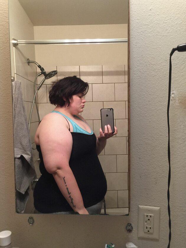 Kristen Bobo przed utratą wagi