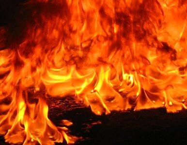 Pożar na polskim okręcie wojennym
