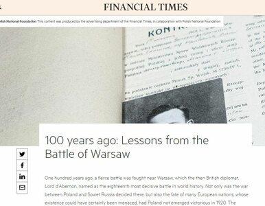 """PFN pochwaliła się """"zasięgami"""" artykułu w """"Financial Times"""". Tylko gdzie..."""