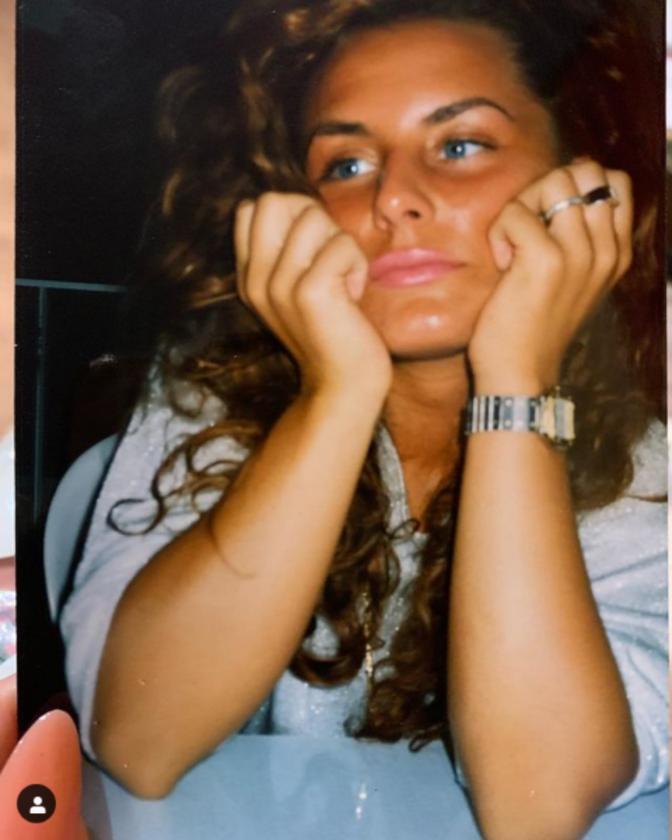 Dagmara Kaźmierska na zdjęciu sprzed lat