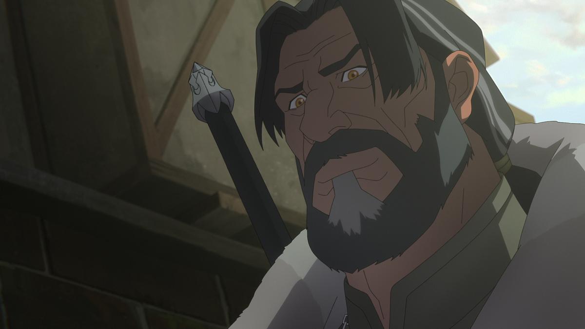 """Kadr z filmu animowanego """"Wiedźmin: Zmora wilka"""""""