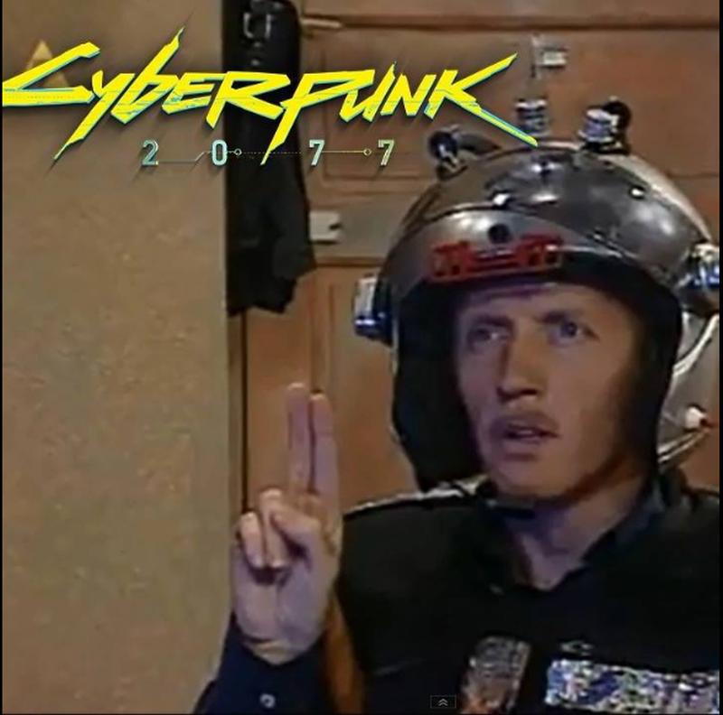 Mem zainspirowany grą Cyberpunk 2077