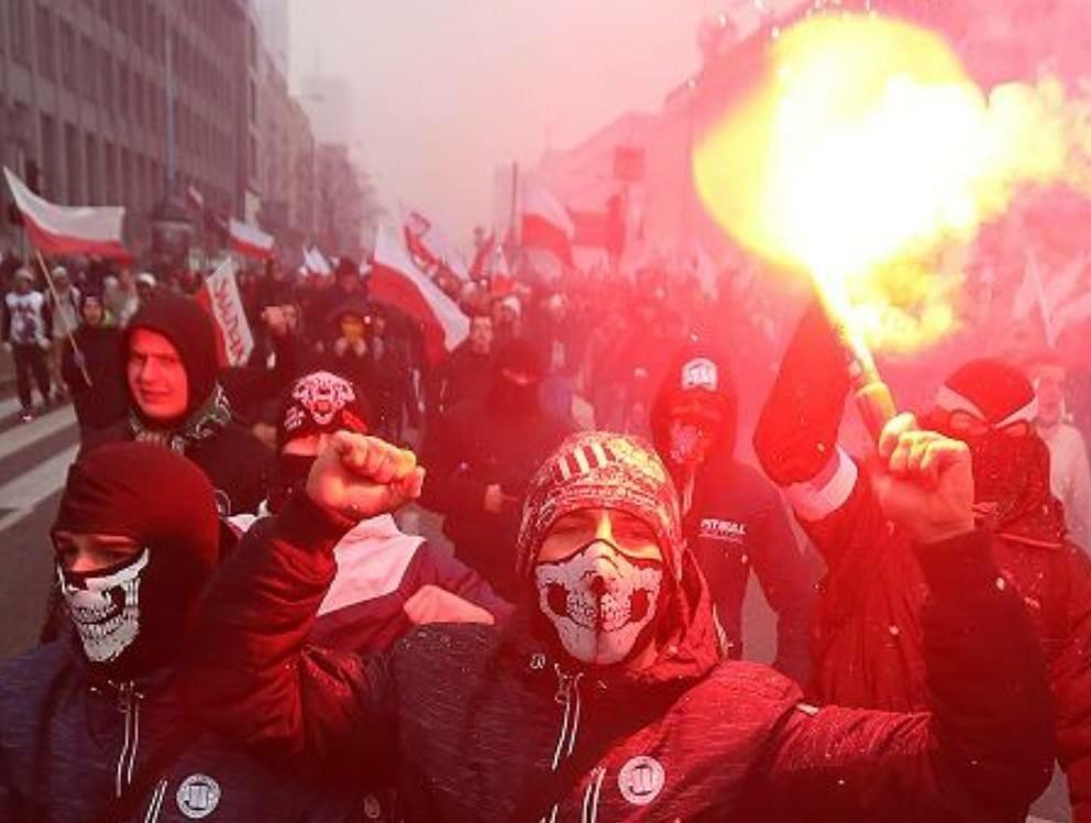 Zdjęcie z warszawskiego Marszu Niepodległości (11.11.2017 r.)