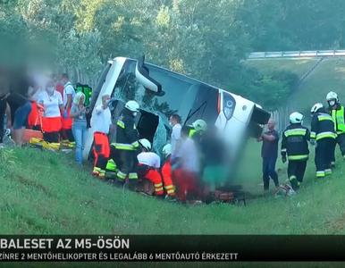 Wypadek autokaru z Polakami na Węgrzech. Wśród turystów mieszkańcy...