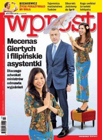 Okładka tygodnika Wprost nr 43/2013 (1600)