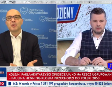 """Kłótnia posła KO z Rachoniem w TVP Info. """"Taka narracja jest po prostu..."""