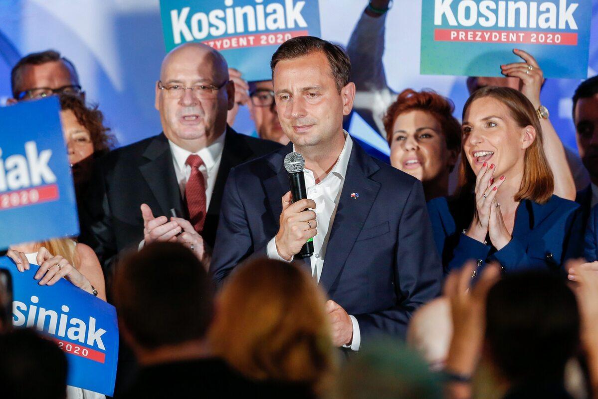 Wieczór wyborczy w sztabie Władysława Kosiniaka-Kamysza