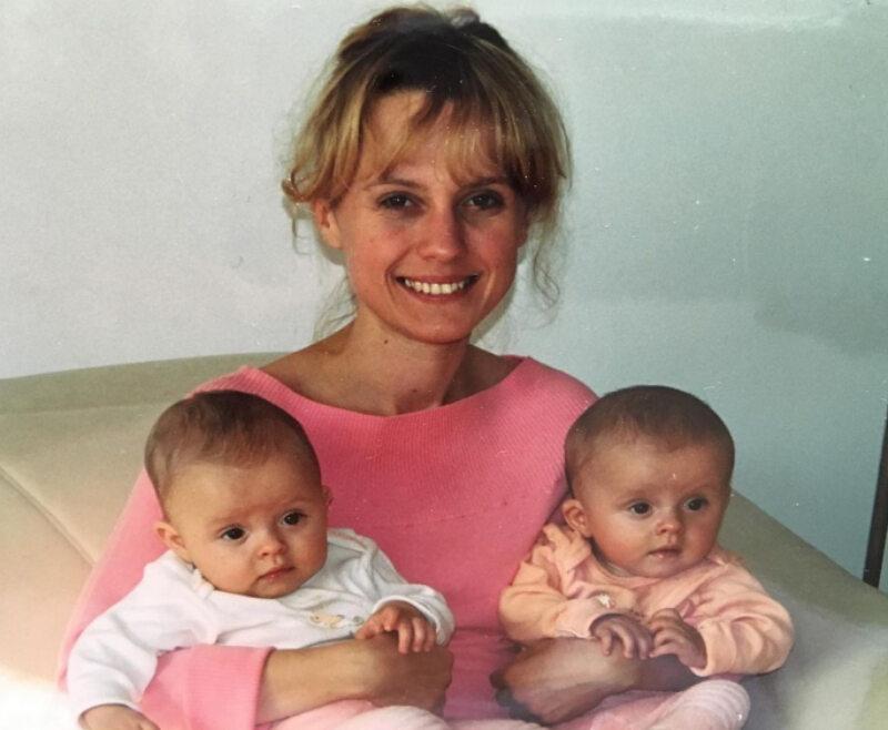Aleksandra Woźniak z córkami – Julią i Anią