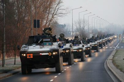 Polskie wojsko jedzie na Berlin