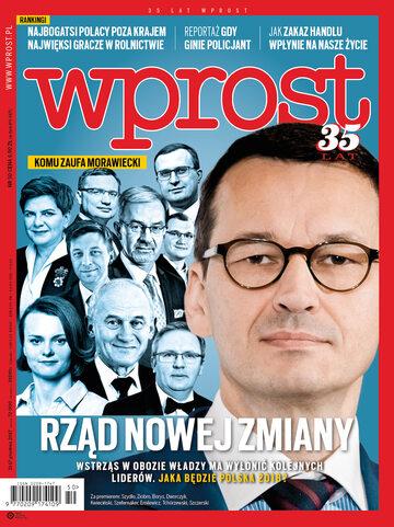 Okładka tygodnika Wprost nr 50/2017 (1815)