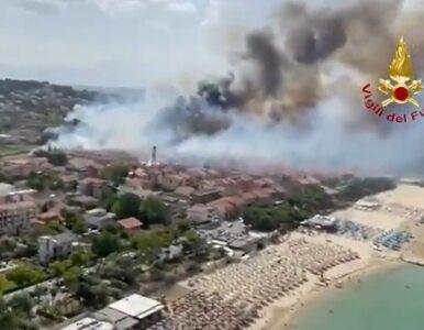 Ponad 800 pożarów we Włoszech. Turyści ewakuowani, co najmniej pięć osób...