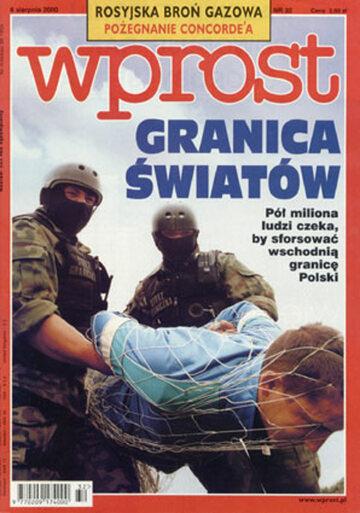 Okładka tygodnika Wprost nr 32/2000 (923)